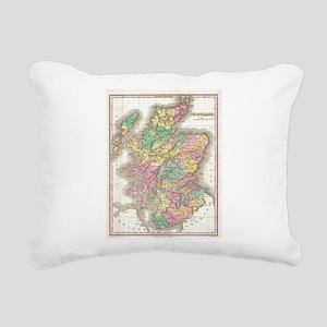 Vintage Map of Scotland Rectangular Canvas Pillow