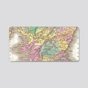 Vintage Map of Scotland (18 Aluminum License Plate