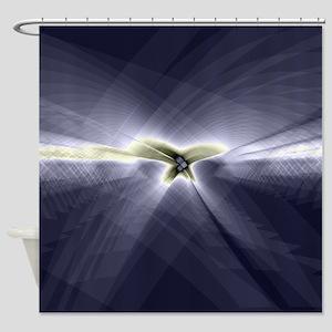 Erratic Flight (Slate) Shower Curtain