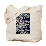 The Red Dot Waves Tote Bag