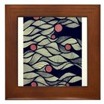 The Red Dot Waves Framed Tile