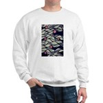 The Red Dot Waves Sweatshirt