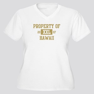Property of Hawaii Women's Plus Size V-Neck T-Shir