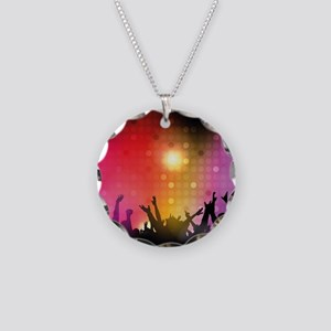 Concert and Applause Necklace Circle Charm