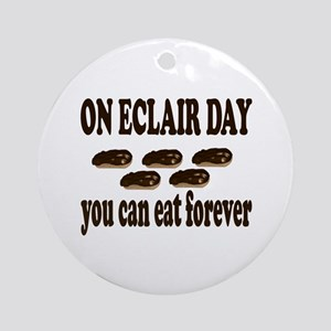 Eclair Day Round Ornament
