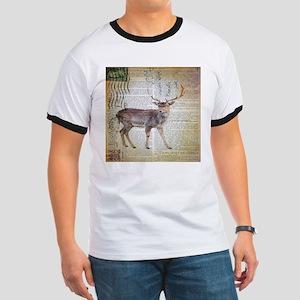 vintage scripts wild deer T-Shirt