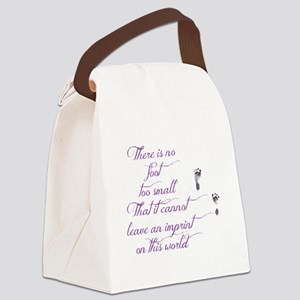 There is no foot too small Canvas Lunch Bag
