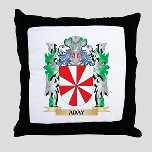 Aday Coat of Arms - Family Crest Throw Pillow