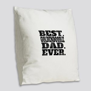 Best Goldendoodle Dad Ever Burlap Throw Pillow