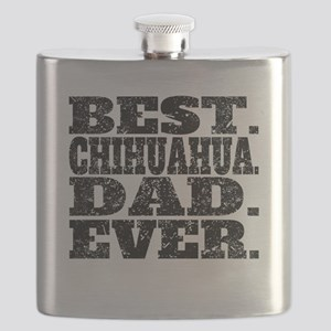 Best Chihuahua Dad Ever Flask