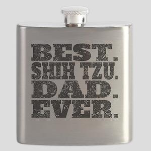 Best Shih Tzu Dad Ever Flask