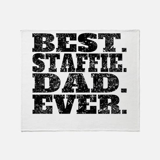 Best Staffie Dad Ever Throw Blanket
