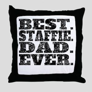 Best Staffie Dad Ever Throw Pillow