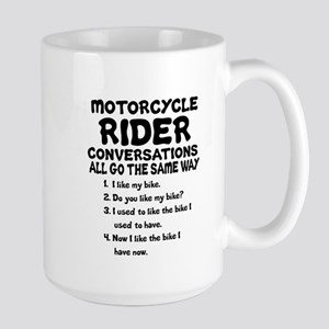 MOTORCYCLE RIDER CONVERSATIONS  Large Mug