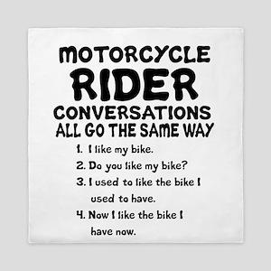 MOTORCYCLE RIDER CONVERSATIONS  Queen Duvet