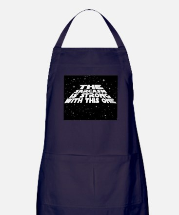 The Sarcasm is Strong Apron (dark)