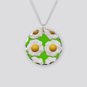 lime green eggs Necklace Circle Charm