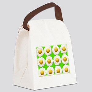 lime green eggs Canvas Lunch Bag