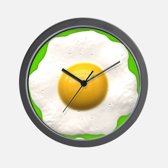 lime green eggs Wall Clock
