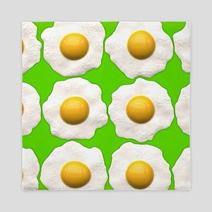 lime green eggs Queen Duvet