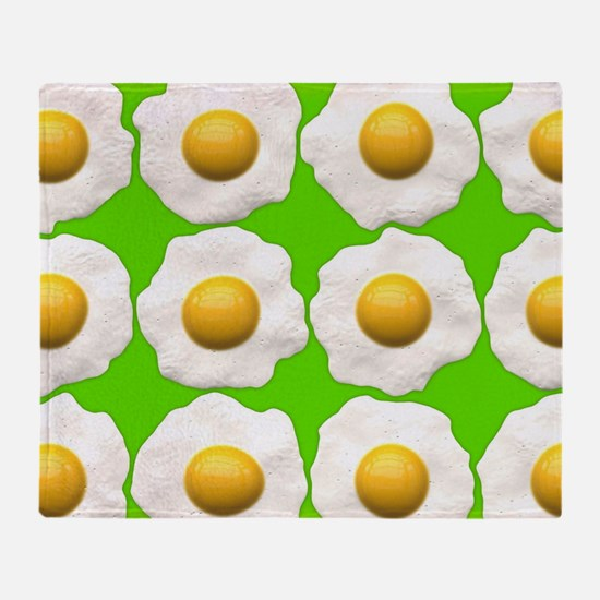 lime green eggs Throw Blanket