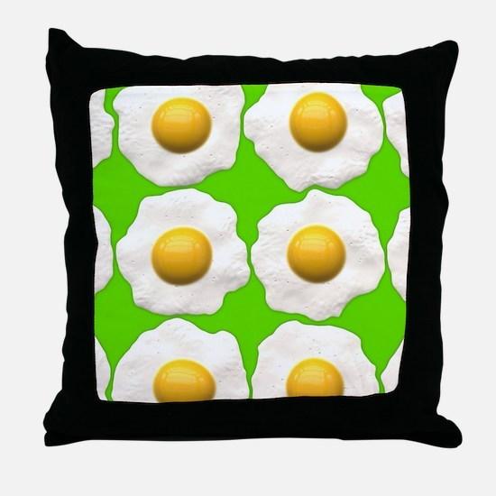 lime green eggs Throw Pillow