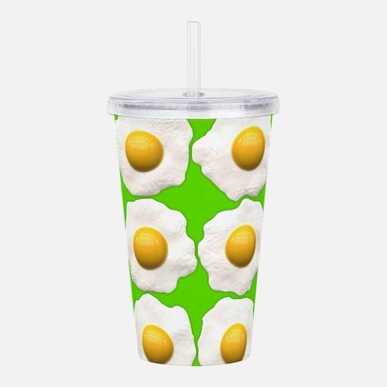 lime green eggs Acrylic Double-wall Tumbler