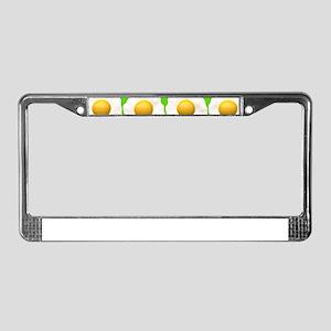 lime green eggs License Plate Frame