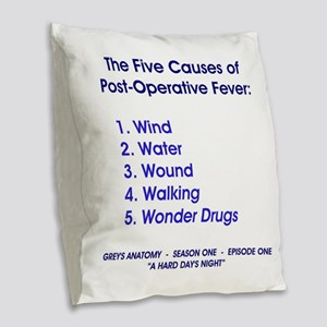 THE 5 CAUSES OF... Burlap Throw Pillow