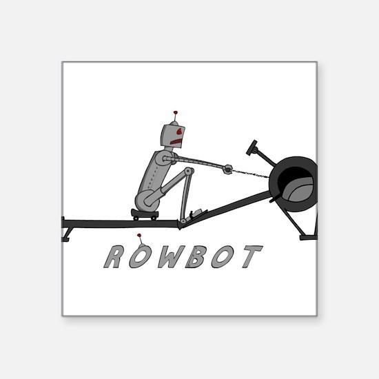 "Unique Rowing Square Sticker 3"" x 3"""