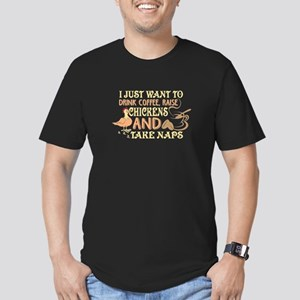 I Just Want To Drink Coffee Raise Chickens T-Shirt
