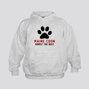 Maine Coon Simply The Best Cat Designs Kids Hoodie