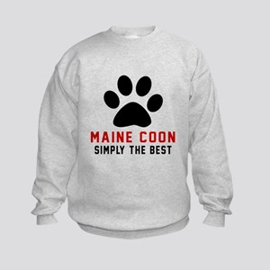 Maine Coon Simply The Best Cat Des Kids Sweatshirt