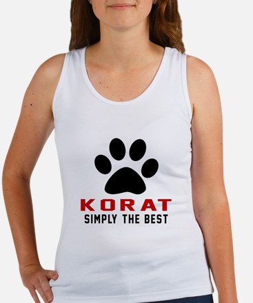 Korat Simply The Best Cat Designs Women's Tank Top
