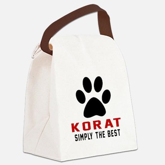 Korat Simply The Best Cat Designs Canvas Lunch Bag
