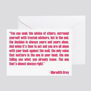 MEREDITH QUOTE Greeting Card