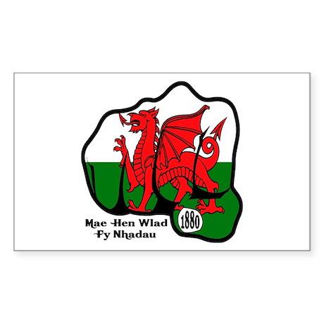 Wales Fist 1881 Rectangle Sticker