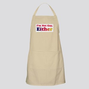 I'm Not Gay, Either BBQ Apron