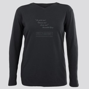 PICK ME Plus Size Long Sleeve Tee