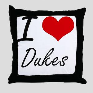 I love Dukes Throw Pillow