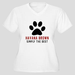 Havana Brown Simp Women's Plus Size V-Neck T-Shirt