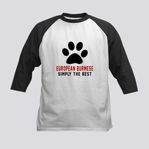 European Burmese Simply The B Kids Baseball Jersey