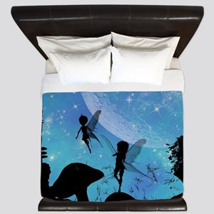 Wonderful fairy silhouette King Duvet