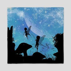 Wonderful fairy silhouette Queen Duvet