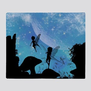Wonderful fairy silhouette Throw Blanket