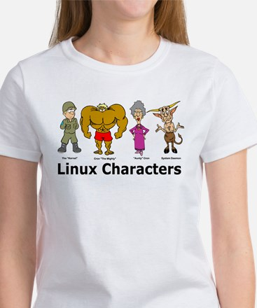 Linux Characters Women's T-Shirt