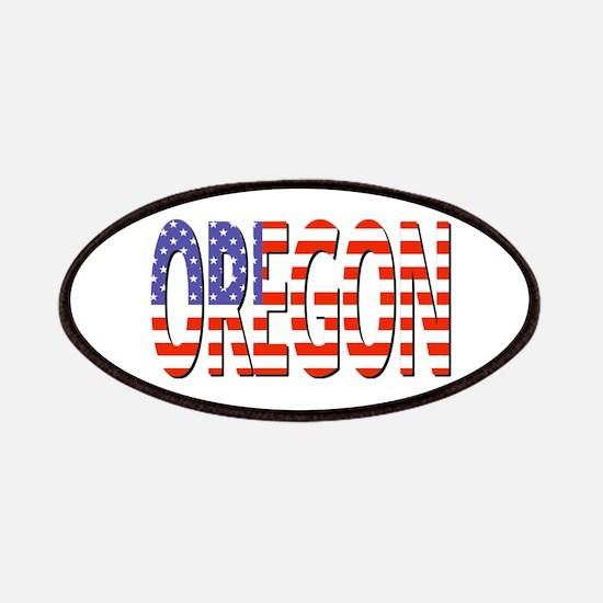Patriotic Oregon Patch
