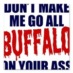 Buffalo Football Square Car Magnet 3