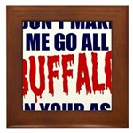 Buffalo Football Framed Tile