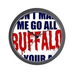 Buffalo Football Wall Clock